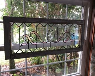 Stained Glass set in Antique Window Panes