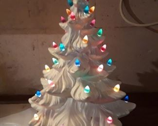 Vintage Ceramic Christmas Tree,  The creators personality always shines through !  Each one is unique in it's own way.