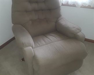 Nice fabric recliner, great fit for a small area.