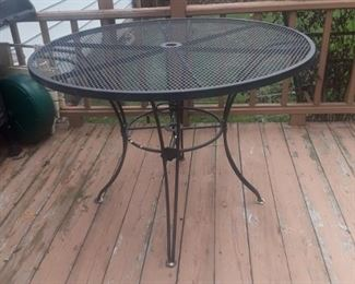 Wrought iron table.