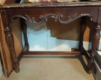 Carved ornate hall table, a little TLC and it will be a beautiful accent to any space.
