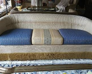 Queen Anne Upholstery no makers name sofa 72 x 33