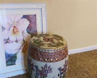 Porcelain Chinese garden stool