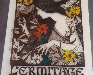 CULTURAL ART REVIEW L'ERMITAGE PARIS FRANCE BERTHON VINTAGE ART PRINT