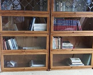 """Beveled glass """"lawyer's bookcases"""""""
