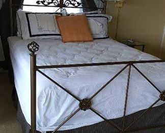 Queen iron bed.