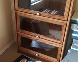 """Small glass """"lawyer's bookcases"""""""