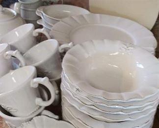 Anthropologie Fleur de Lys dinnerware