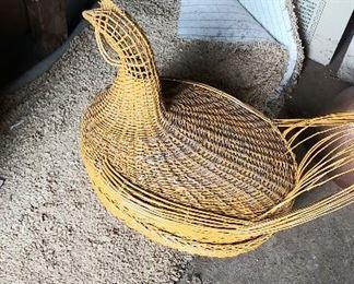 Vintage chicken egg basket