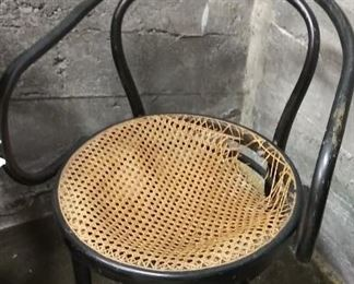 Set of 4 Thonet bentwood/cane chairs