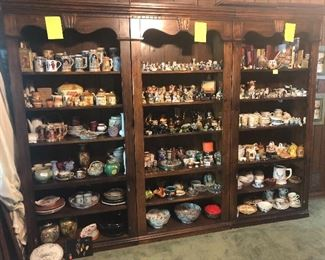 large collection of various figurines (Precious Moments, Snowbabies, Home Interiors and others)