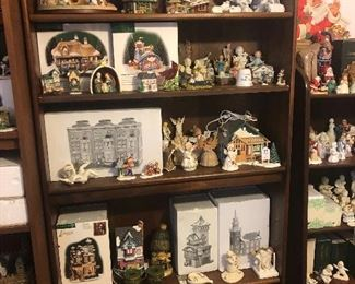 Christmas decor, ornaments, snow villages, nativity sets, nutcrackers
