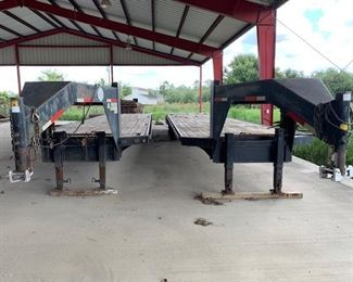 two Goose Neck utility trailers 24,000 GVW 2 axle, 25-30 ft long)