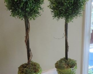 Topiary in Green Urns (pair)