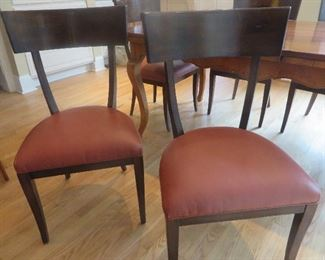 French Country Maple Extension Table & 6 Chairs Baker Furniture Milling  (detail of chairs)