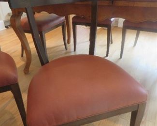French Country Maple Extension Table & 6 Chairs Baker Furniture Milling  (detail of chair)