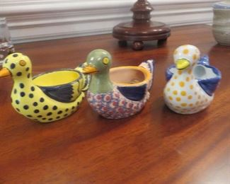 Duck Egg Cups - Henriot French Pottery