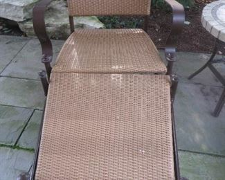 Summer Classic Patio Lounge Chair & Ottomans Wrought Aluminum / N-dura Resin Wicker