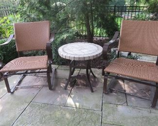 Summer Classic Patio Lounge Chair Wrought Aluminum / N-dura Resin Wicker
