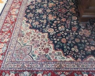 Tabriz Persian Oriental Rug  approximated:  9.4 x 12.4
