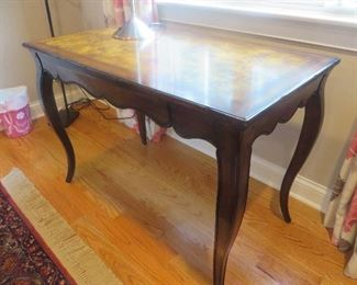 "French Writing Table with Custom Finish				Woodridge Furniture 				 60"" W x 30"" D x 30"" H"