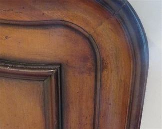Venetian Style Queen Bed (detail) Solid Wood Walnut Veneer with an ebony border