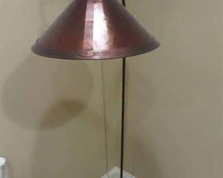 Arched Rustic Bronze finished Floor lamp with Mica Shade