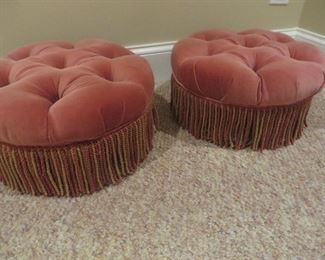 Tufted Ottoman with Fringe Pearson Furniture Company