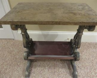 Accent Table with lower Book Shelf