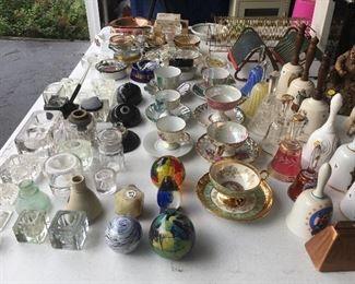 Ink wells, tea cups and bells