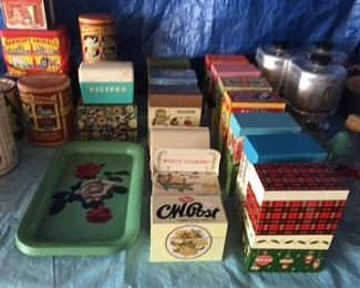 Lots of recipe boxes