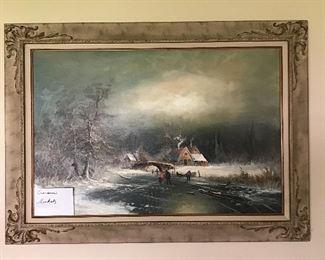 Original oil painting by listed artist Gunter Seekatz