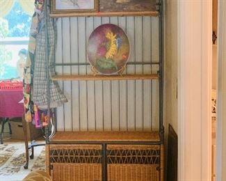 Baker Rack and Hand painted tiles, art