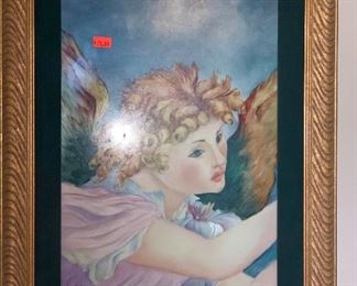 Beautiful hand painted large Angel tile