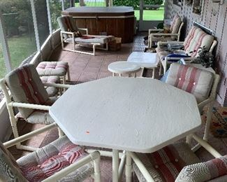 Many patio furniture pieces