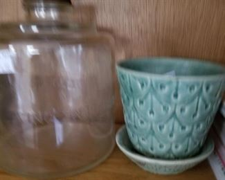 Antique kerosene jar