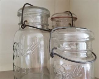 One of many fruit and canning jars