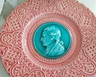 Rare advertising majolica plate from Gallatin, Tennessee
