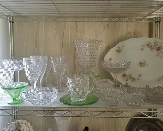 More American Fostoria and green depression glass