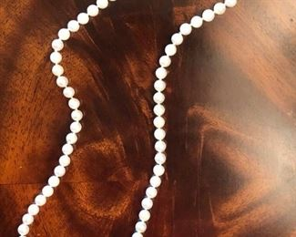 7mm cultured pearl necklace with 14K gold clasp