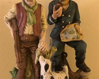 Collection of vintage porcelain figurines