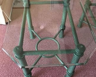 Metal / Glass End Table