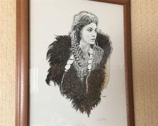 """""""Buffalo Robe"""" Artist Trial Proof by W. Ward Ryan"""