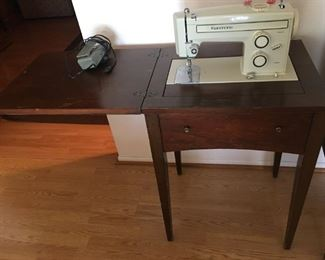 Kenmore Sewing Macine inside Table