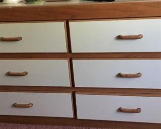 White/Wood Long Dresser