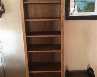 Narrow Solid Wood Bookshelf