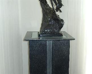 Custom lighted pedestal height 3ft.2in