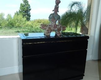 Broyhill Sideboard Black Lacquer height 30in. length 40in.