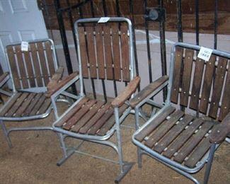 1950s Aluminum Patio Chairs
