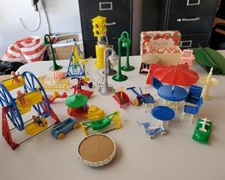 Hard plastic 1950s toys